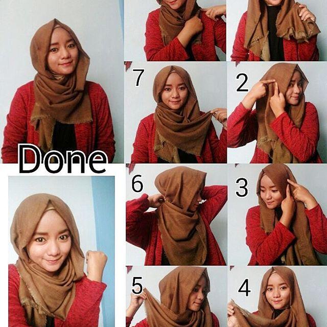 tutorial hijab segi empat shabia