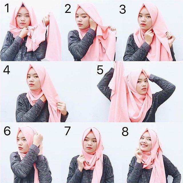 tutorial hijab pashmina shabia